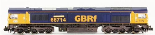 "Dapol ND043 Class 66 diesel 66714 ""Cromer Lifeboat"" in GBRf livery"
